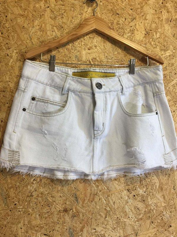 Saia jeans (40) - Espaço Fashion