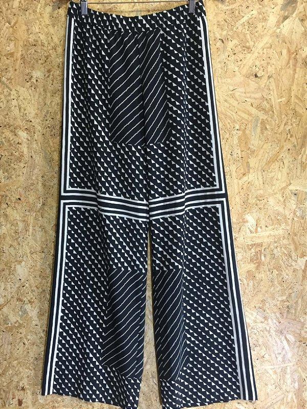 Calça pantalona (M) - Zara