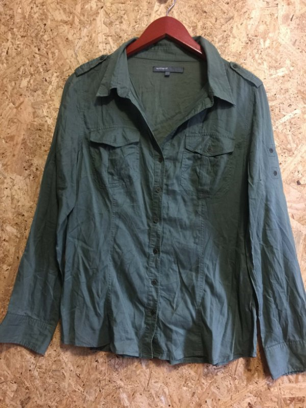 Camisa verde militar (G) - Basement
