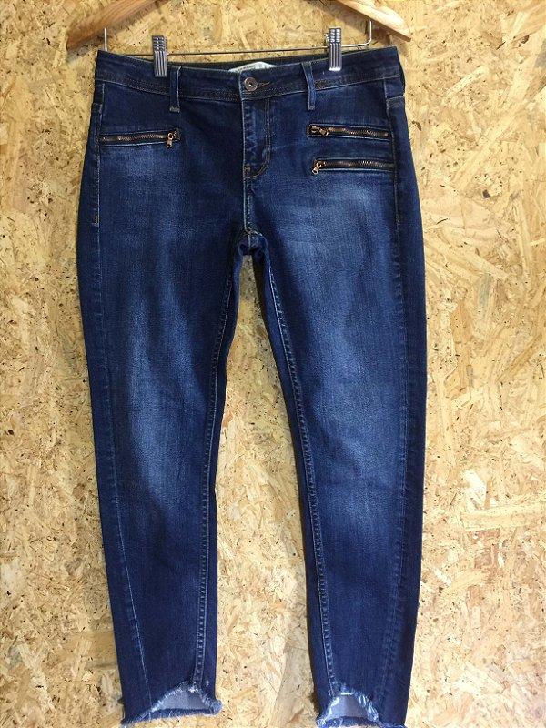 Calça jeans ziper (38) - Zara