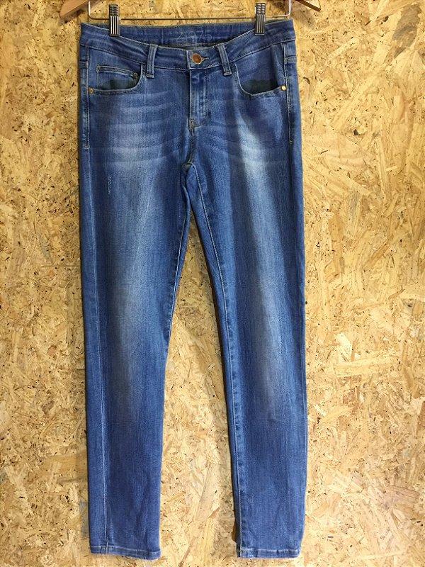 Calça jeans claro skinny fit (40) - Zara