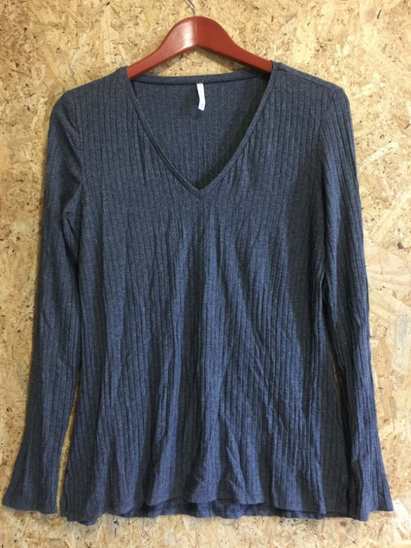 Blusa canelada cinza (M) - Marfinno