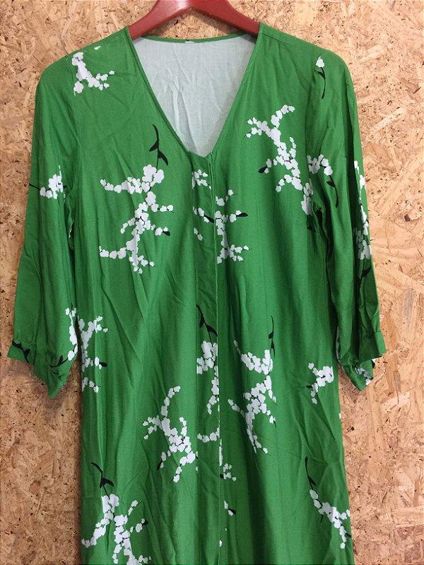 Vestido longo verde (M) - Rosa Dahlia