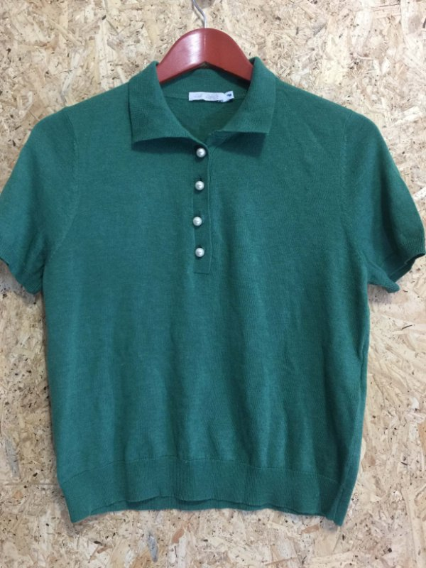 Blusa linha verde polo (P) - Lia Lobato NOVA