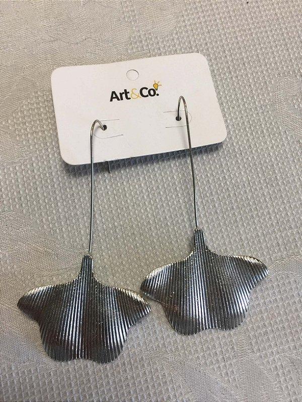 Brinco prata fio metalico - Artco NOVO