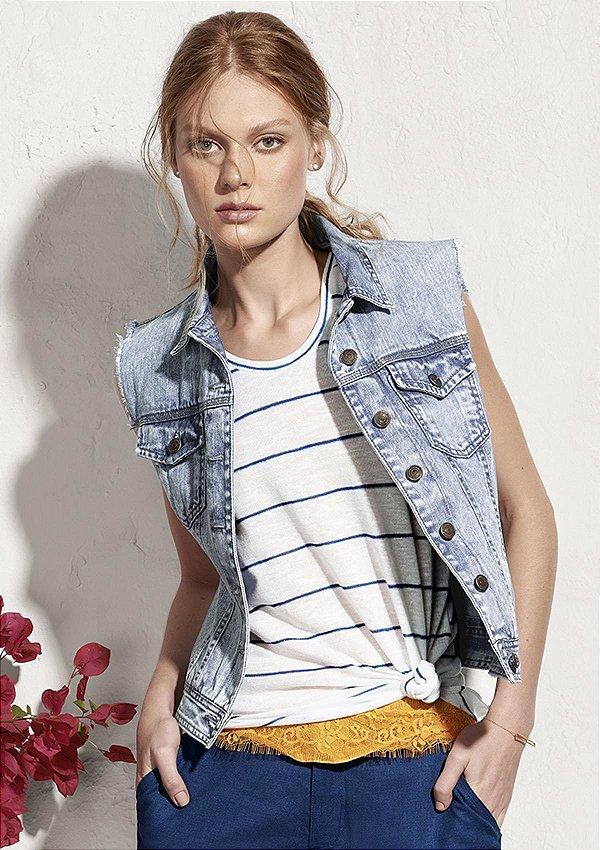 Colete jeans (P) - Hering NOVO