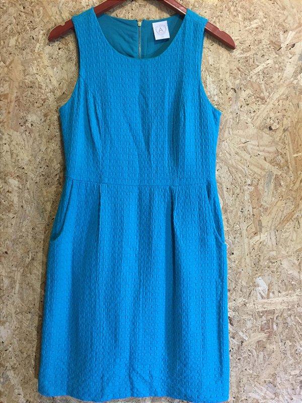 Vestido azul textura (38) - A. Colllection