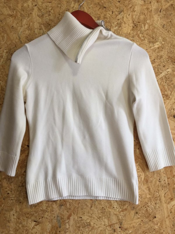 Blusa tricot gola alta (P) - Fernanda Farah