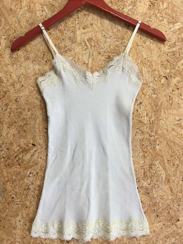 Camiseta canelada cru (P) - Rock Lily