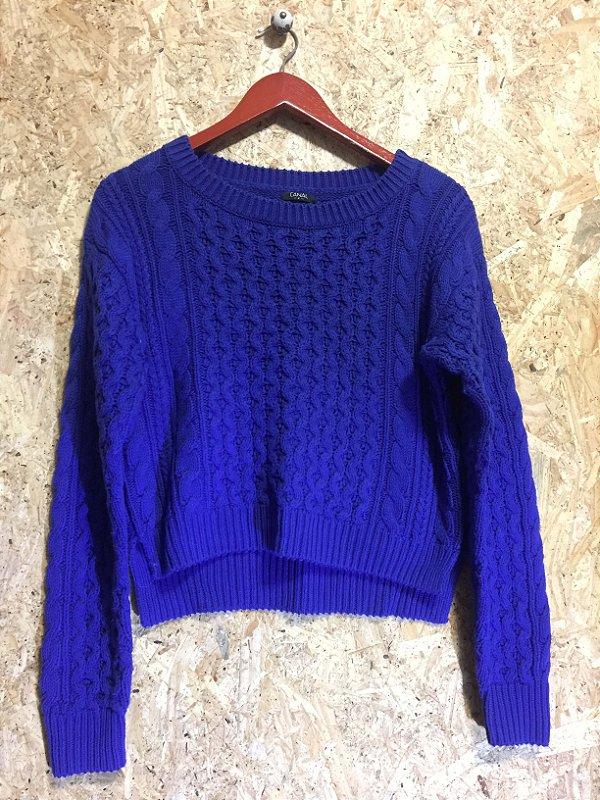 Blusa azul lã (P) - Canal