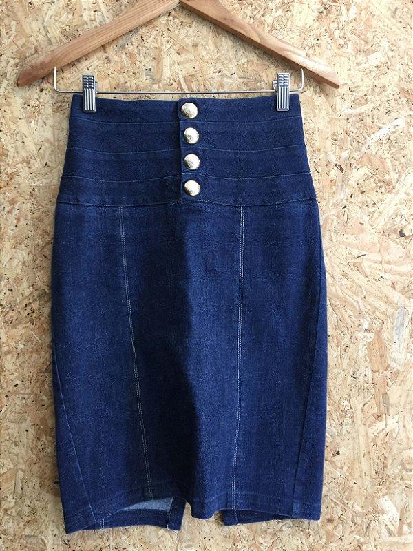Saia lápis jeans (34) - Mixed