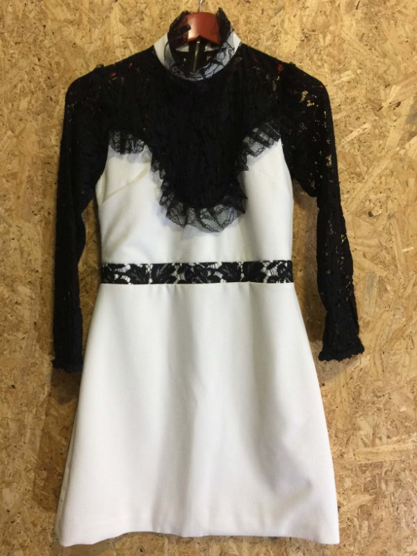 Vestido off white manga renda (38) - S.Club