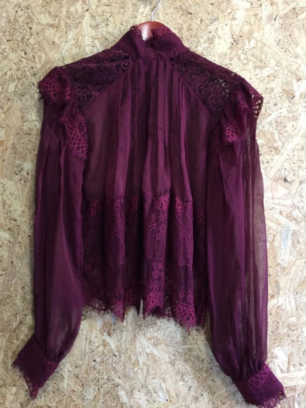 Camisa renda bordô (44) - LN