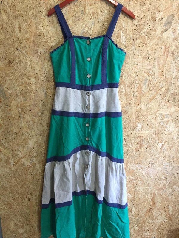 Vestido longo linho (40) - LN