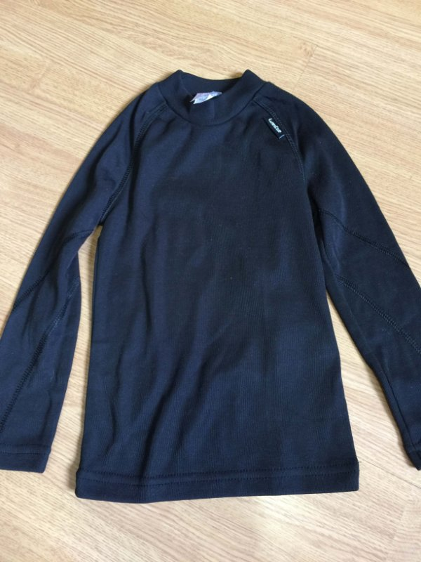 Camisa térmica infantil preta (4 anos) - Wed'ze