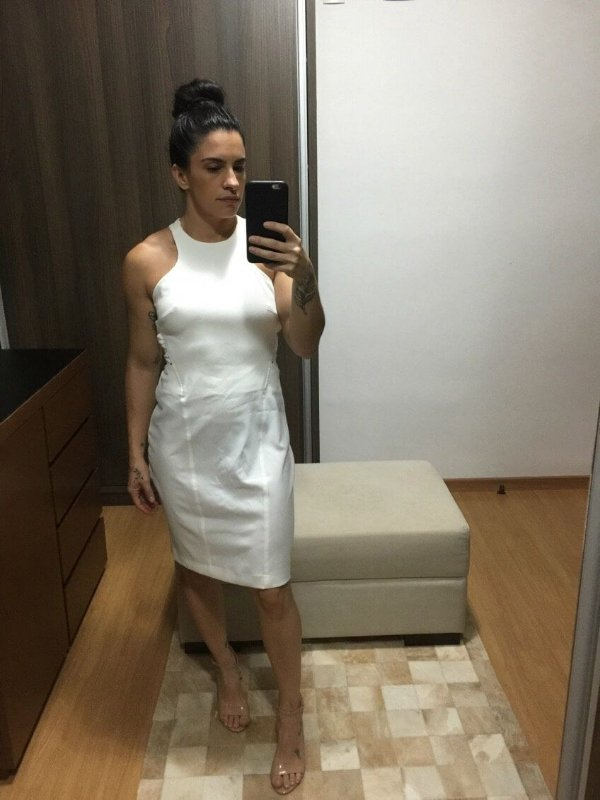 Vestido off white (40) - Shop 126