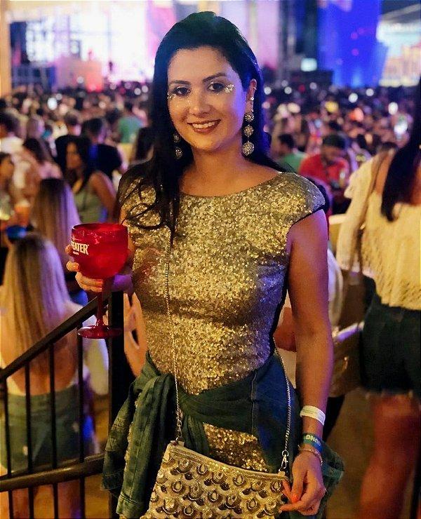 Vestido paetês (G) - Zara