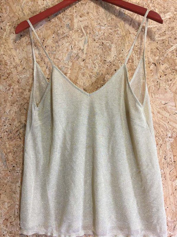 Camiseta lurex (G) - Tea