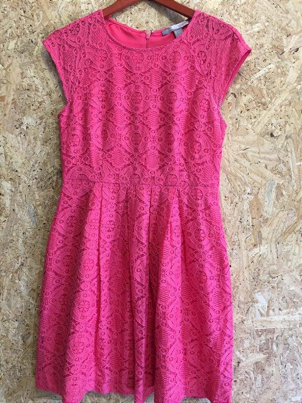 Vestido renda rosa (M) - Forever 21