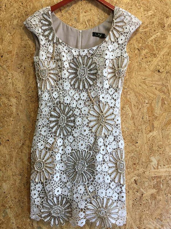 Vestido renda bordado (P) - LN