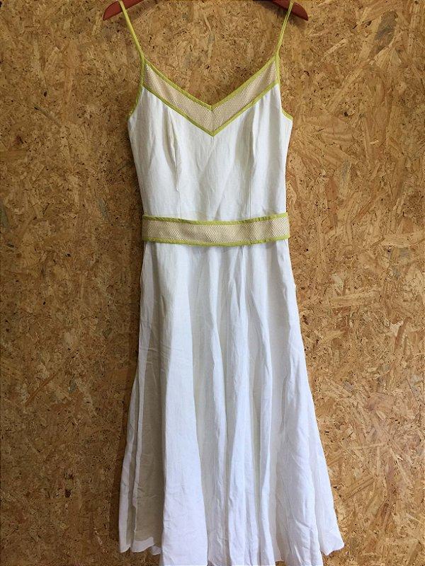Vestido linho off white (M) - Fruta Cor