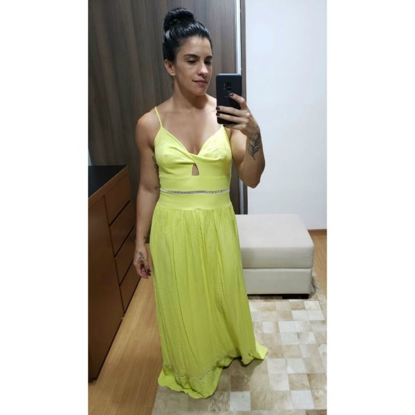 Vestido longo neon (40) - Lozz