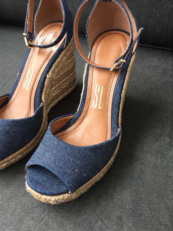 Anabela jeans (37) - Santa Lolla NOVA