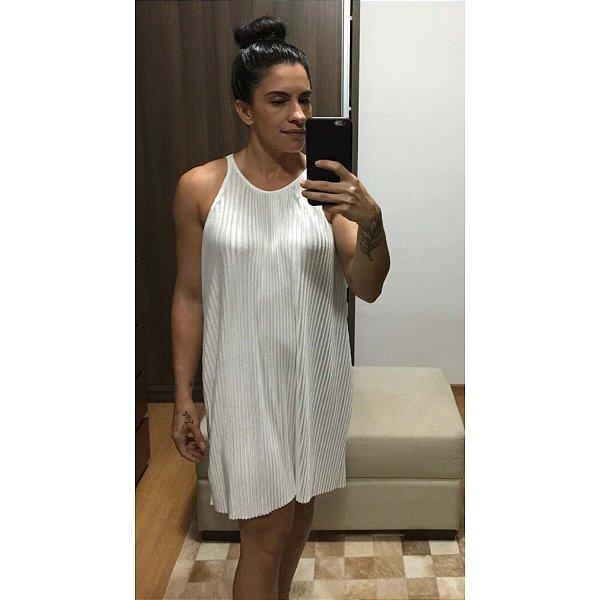 Vestido off white plissado (PP) - Dress.to