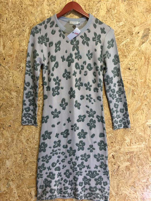 Vestido tricot flowers (P) - Shop 126 NOVO