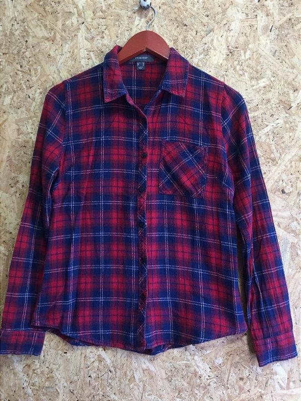 Camisa xadrez (P) - Primark