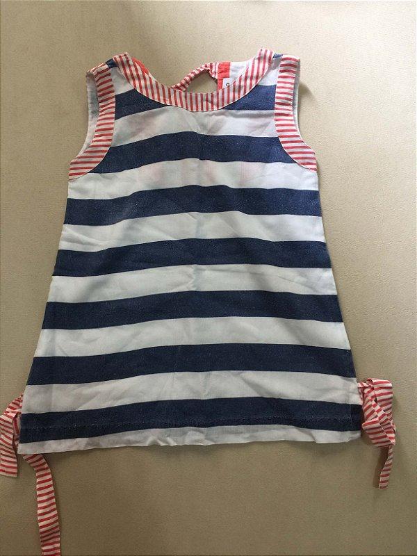 Vestido listra (2 a 4 meses) - Gretchen Scott