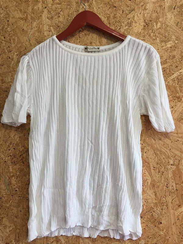 Blusa tricot offwhite (G) - Doce de Coco