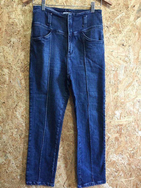 Calça jeans cintura alta (42) - Amaro