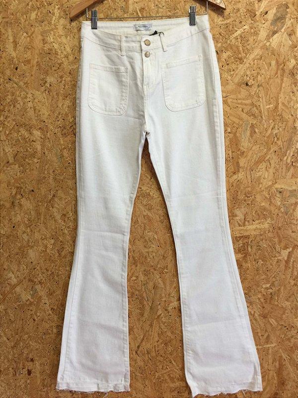 Calça flare branca (38)  - Zara NOVA