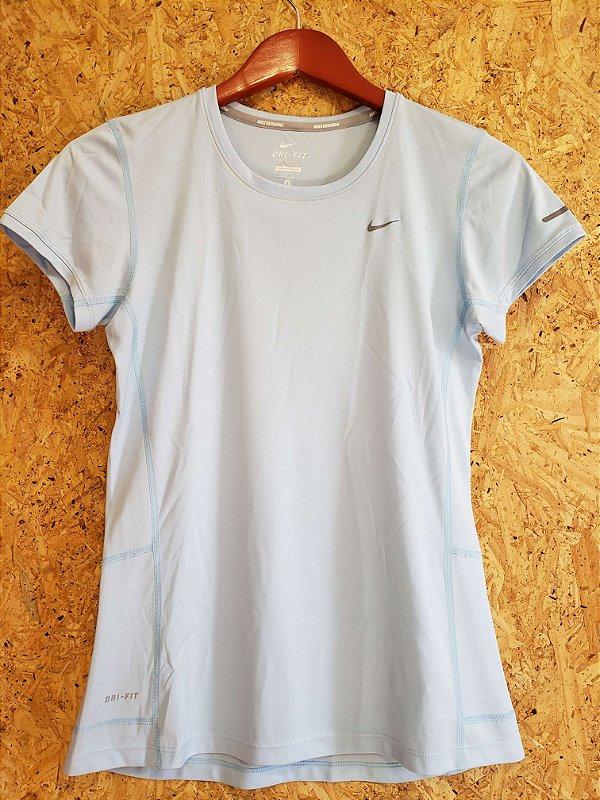 Blusa fitness azul claro (P) - Nike