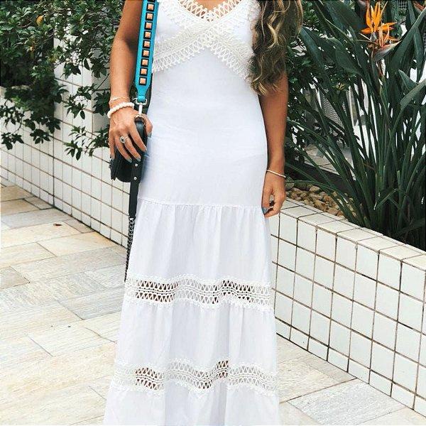 Vestido longo branco (P)