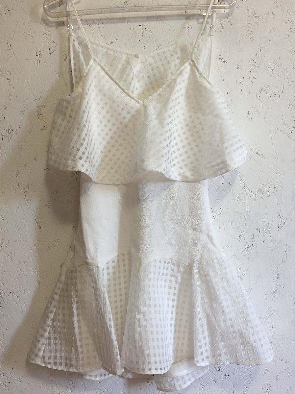 Vestido mini off white (PP) - NBD