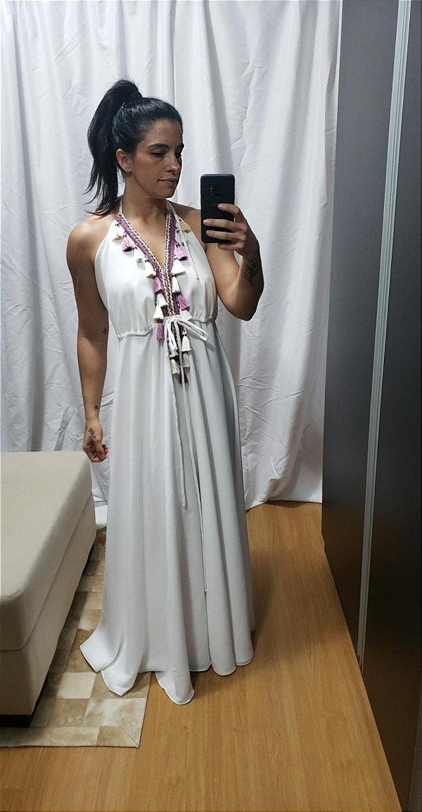 Vestido branco longo frente única (38)