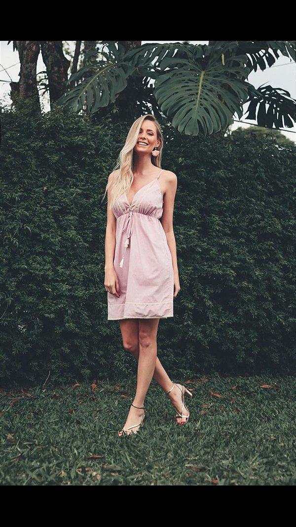 Vestido Curto Madrepérola rosa (M) - Lamac NOVO