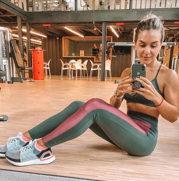 Conjunto cinza fitness (P) - Lauf