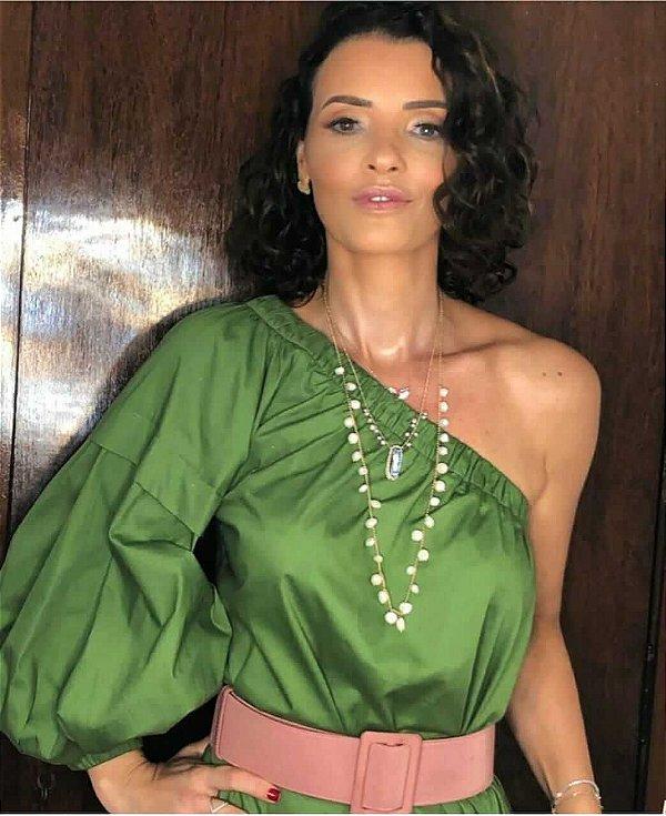 Vestido verde (M) - Zara