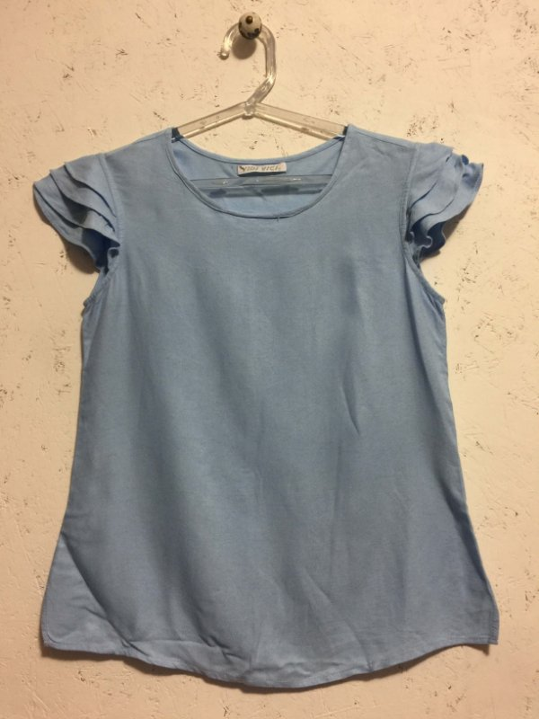 Blusa azul candy (P) - Vidi Vici