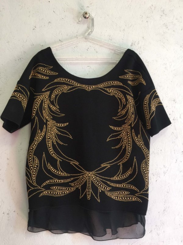 Blusa bordada (M) - Zara