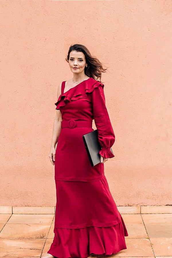 Vestido linho marsala (40) - Atroá