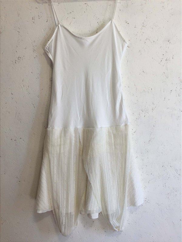 Vestido off white (40) - M&Guia