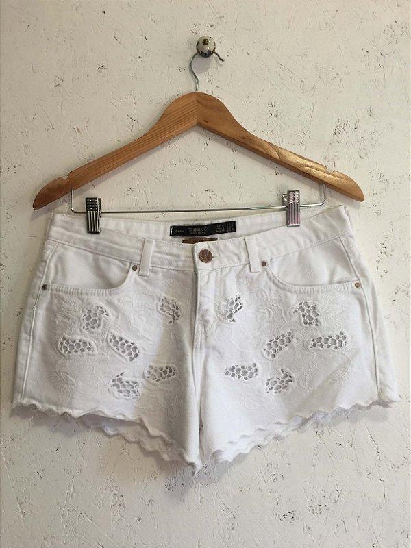 Short detalhes em algodão (G) - Zara