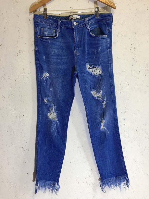 Calça azul claro (38) - Zara