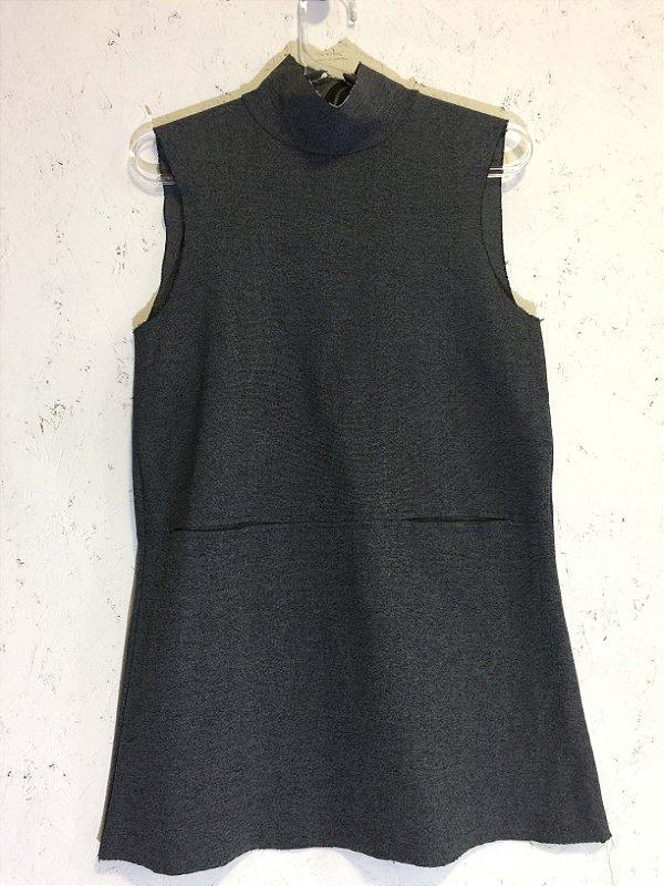 Blusa cinza malha grossa (M) - Zara