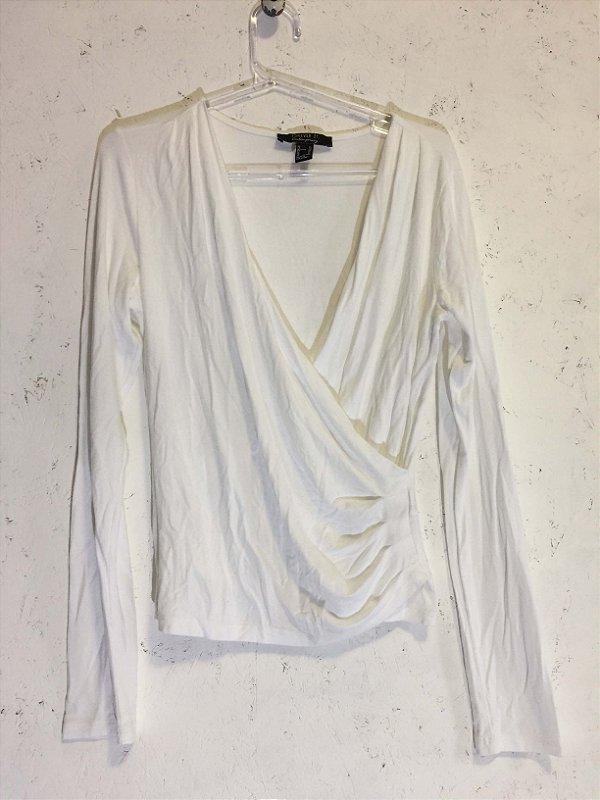Blusa malha branca (GG) - Forever 21