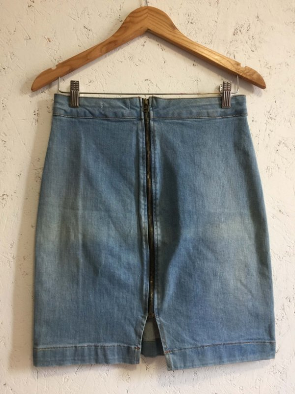 Saia jeans azul claro (40) - Marisa